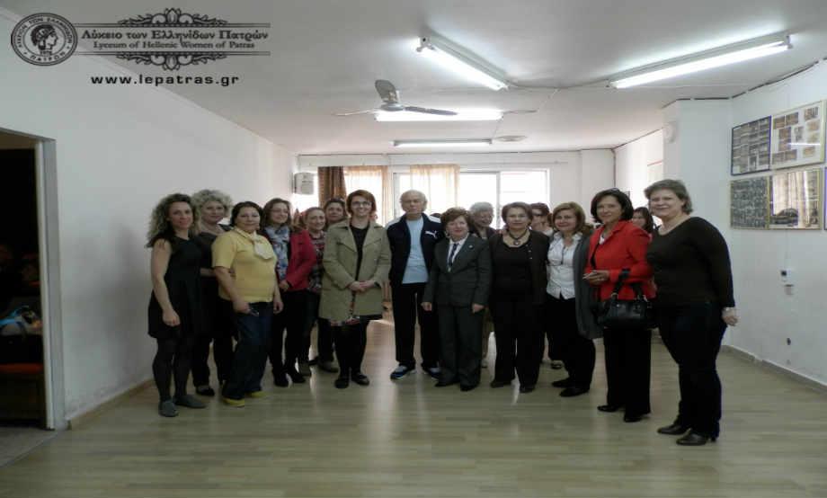 2014-04-05: Επίσκεψη ΛτΕ Κιάτου στο ΛτΕ Πατρών