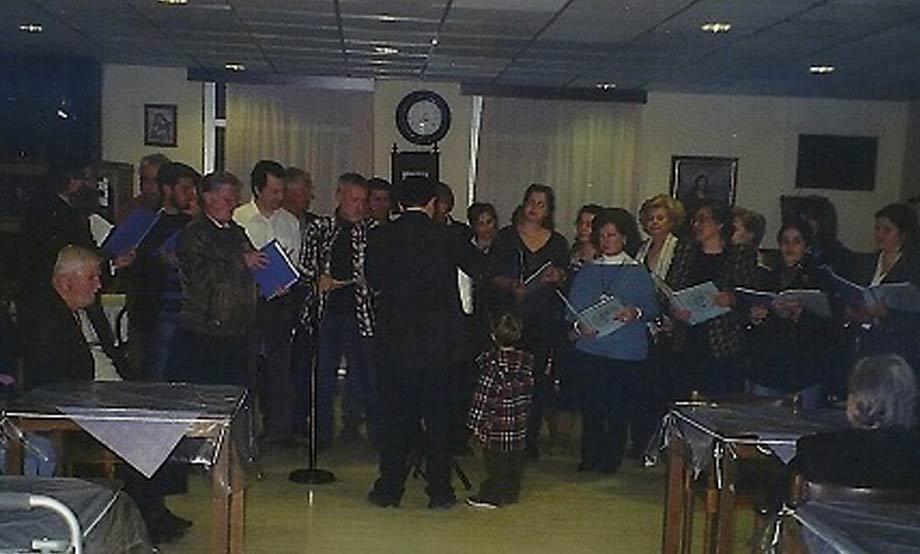 2012-03-22_Επίσκεψη Χορωδίας στο Κωνσταντινοπούλειο για τη συμμετοχή τους με τραγούδια της 25ης Μαρτίου