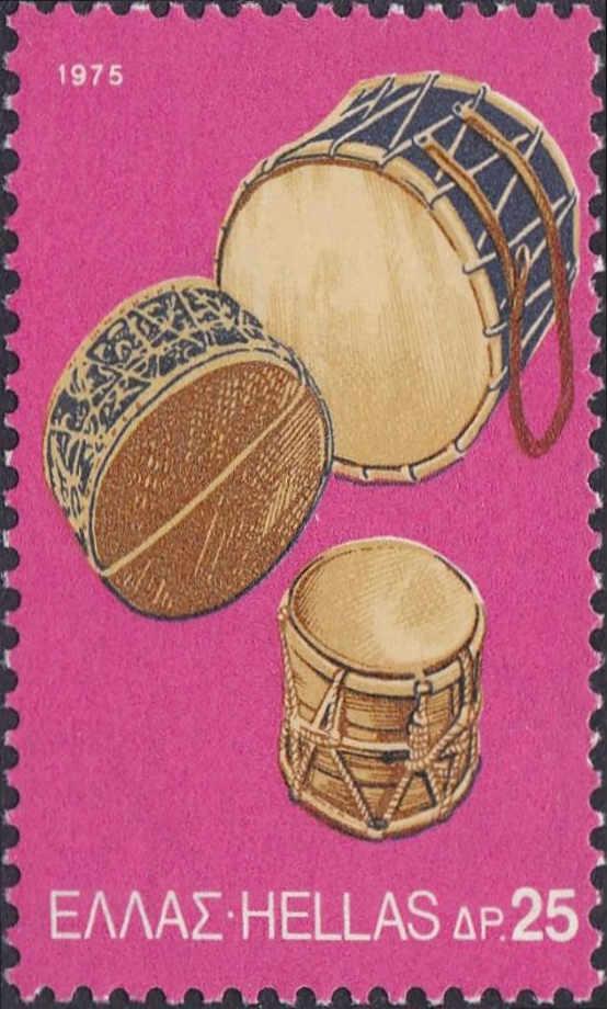 1975  Έκδοση Λαϊκά Μουσικά Όργανα - Νταούλια