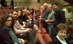 """2016-02-23: Το Λύκειο των Ελληνίδων Πατρών αποδέχτηκε την πρόσκληση του Λυκείου των Ελληνίδων Αθηνών και παρακολούθησε την παράσταση ¨Γαϊτανάκι από φιλιά"""" στο Μέγαρο Μουσικής."""