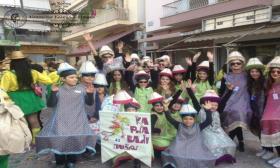 2016-03-06: Οι μικροί μαθητές του Λυκείου των Ελληνίδων Πατρών συμμετείχαν στο Καρναβάλι των Μικρών