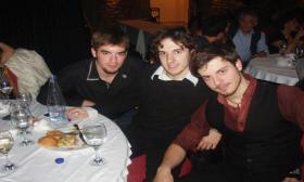 """2008-01: Κοπή πίτας στην αίθουσα """"Αίγλη""""-Veso Mare"""